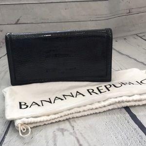 NWT banana republic snakeskin oversized clutch (AC